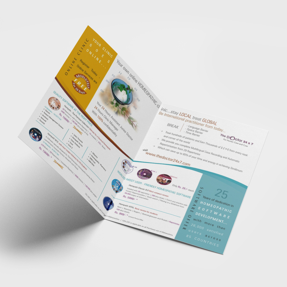 the doctor 24x7 product brochure design